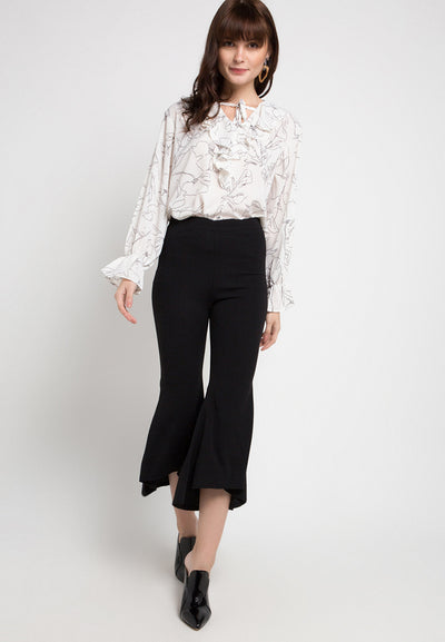 Mineola Stretch Flared Pants Black
