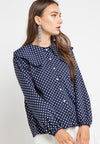 MINEOLA Polkadot Dolly Collar Blouse Navy (11903114FN)