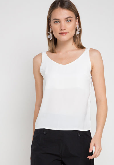 Mineola Cotton Tank Top White