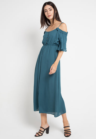 Mineola Off Shouder Jumpsuit Tosca
