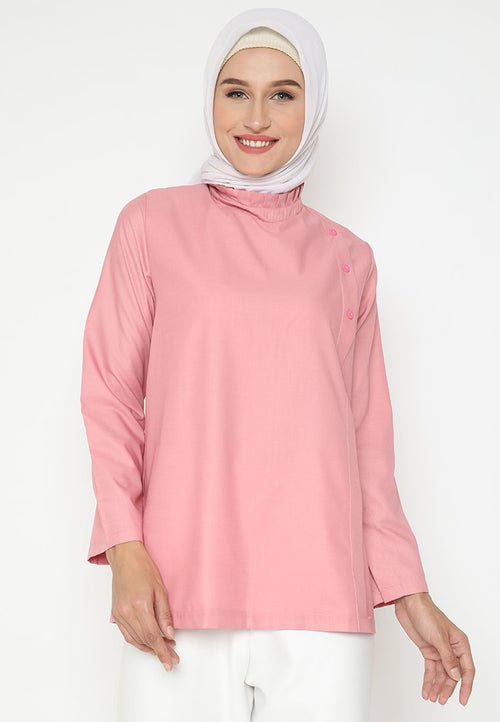 Mineola Hijab Cotton Muslim Top Pink