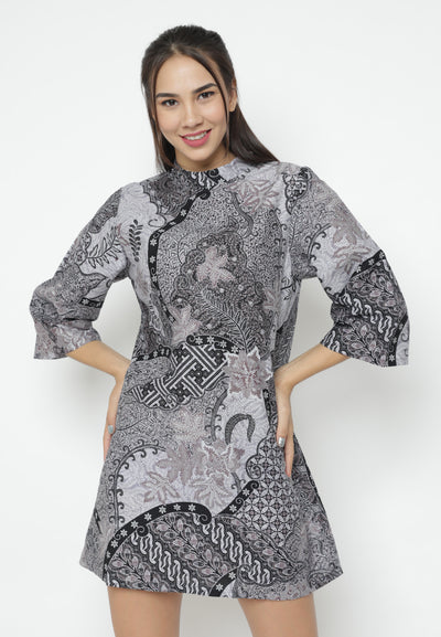 Mineola Round Neck Batik Dress