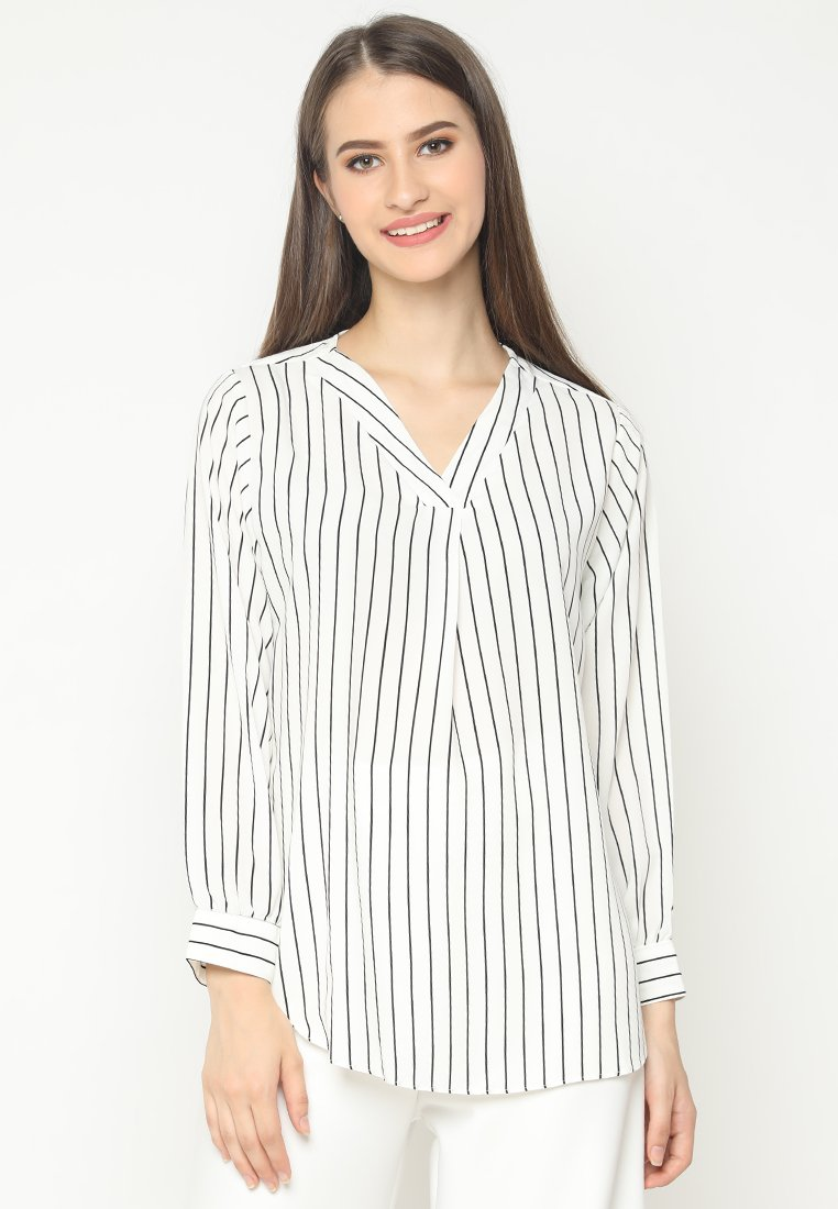 Mineola V-Neck Stripe Shirt