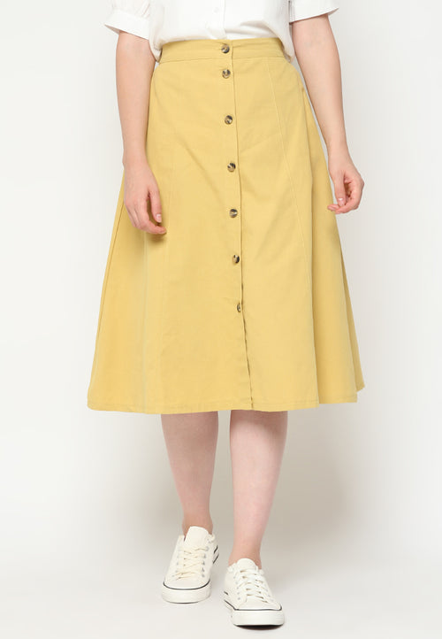 Mineola MNL Button up A-Line Skirt