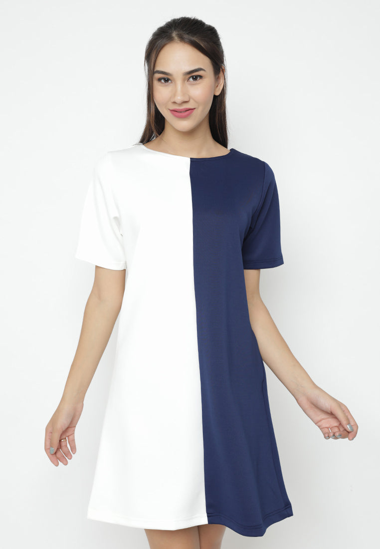 Mineola Two Side Colors Dress