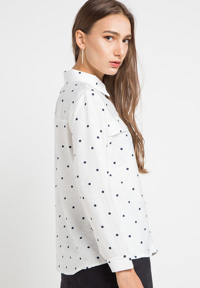 MINEOLA Polkadot Button Down Shirt (11903118FP)