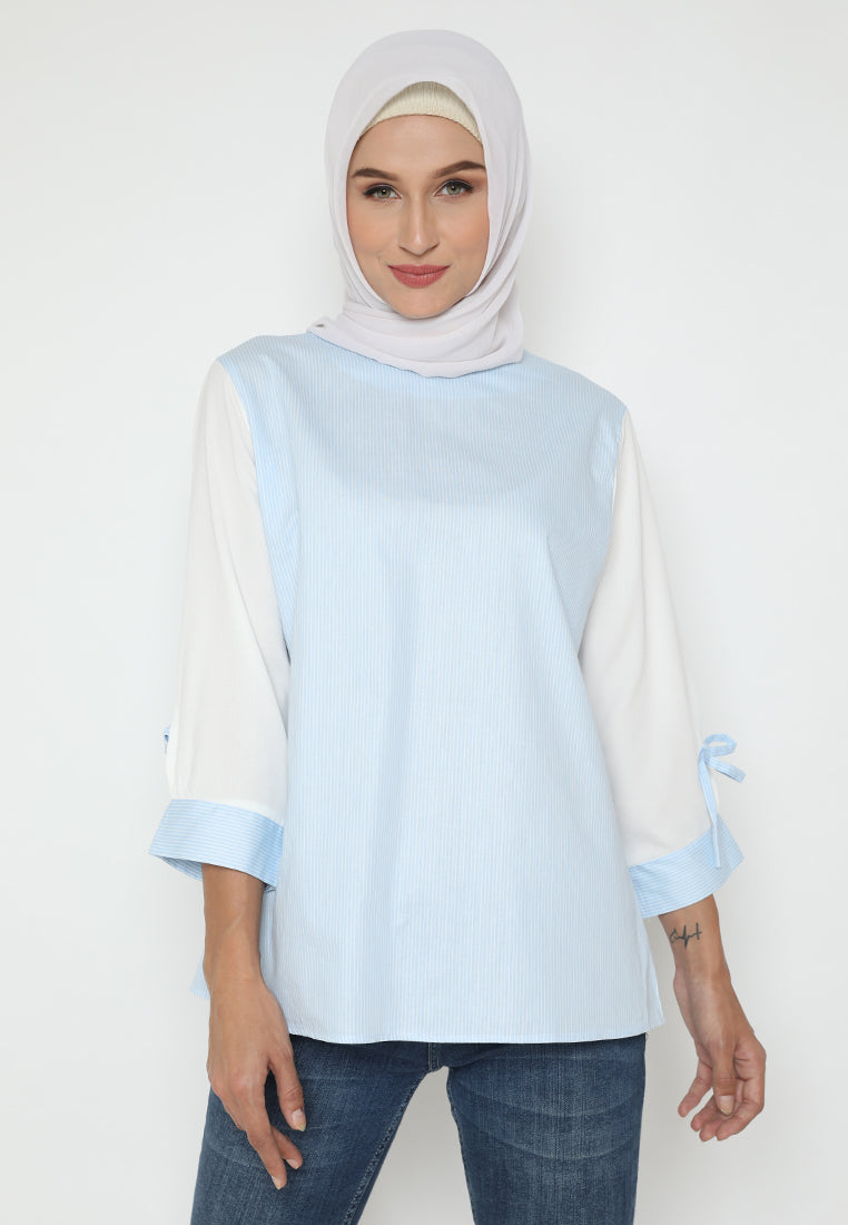 MINEOLA Hijab Collar Neck Stripe
