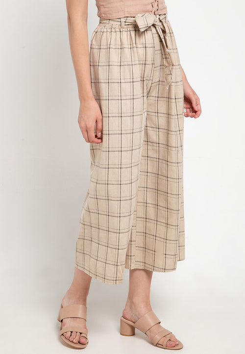 Mineola Checkered Culotte Pants