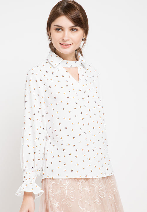 Mineola Long Sleeves Smoked Shirt White