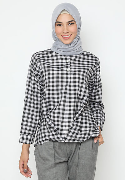 Mineola Assymetrical Chekered Shirt