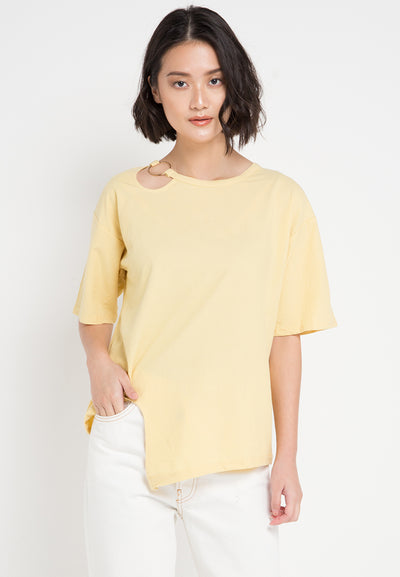 Mineola T-Shirt With Clip Ring Yellow (11805144FY)