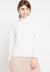 Mineola Ruffle Neck Pearl Long Sleeves Blouse White