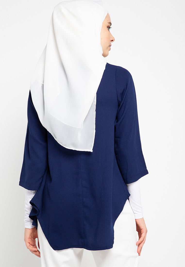 Plain Pleated Muslim