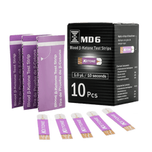 Load image into Gallery viewer, MD6 Blood Ketone Test Strip (10 Strips/box)