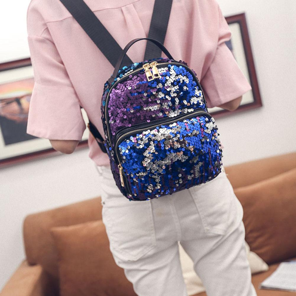 Bling Fashion Backpack. PU+Sequins. - BagTrack
