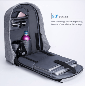 "BOBBY 100% Anti-Theft Laptop Backpack With USB Charging (15""). Oxford Fabric. - BagTrack"
