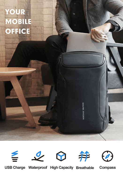 "Mark Ryden 2019 Anti-Theft Laptop Backpack with USB Charging (15.6"")"