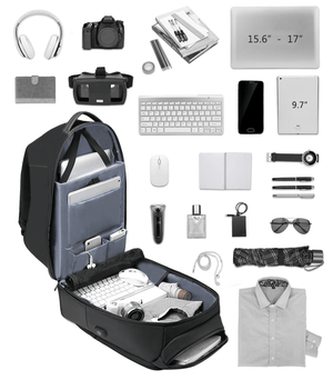 BAGTRACK Anti-Theft Travel and Laptop Backpack with USB Port