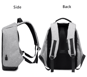 "BOBBY 100% Anti-Theft Laptop Backpack With USB Charging (15""). Oxford Fabric."