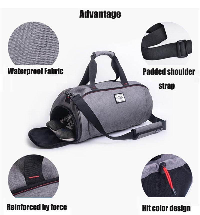 Waterproof Fitness and Yoga Bag with Shoe Storage. Polyester. - BagTrack