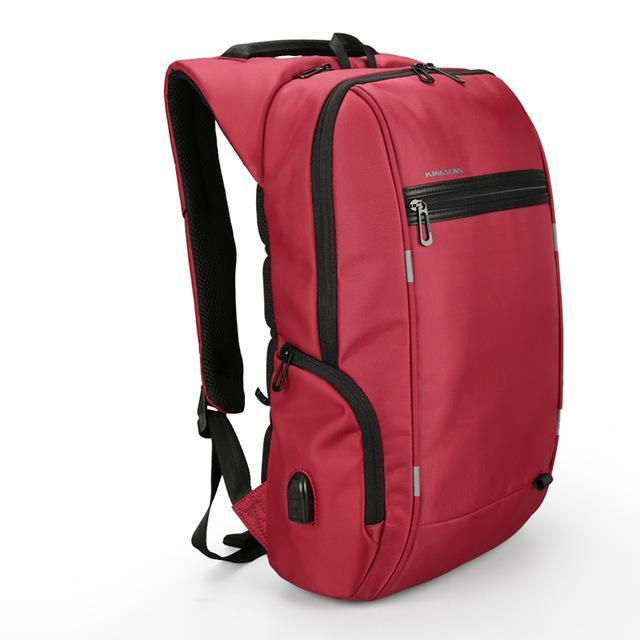 Kingsons Anti-Theft Laptop Backpack with USB Port. Nylon. - BagTrack