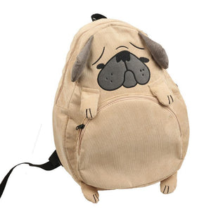 Preppy Dog Themed Laptop Backpack. Corduroy. - BagTrack