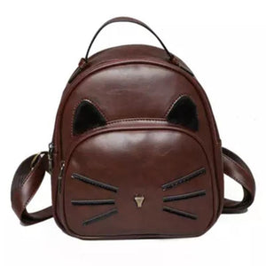 Classy Kitty Fashion Backpack. PU Leather. - BagTrack