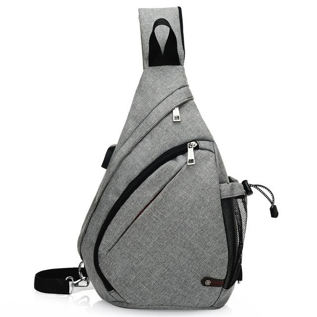 Unisex Chest Bag with USB Port. Oxford. - BagTrack