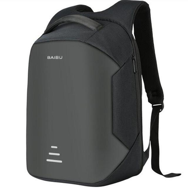 "Anti-Theft Waterproof Laptop Backpack with USB Port (15.6""). Nylon. - BagTrack"