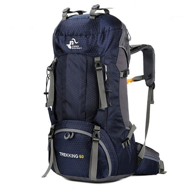Waterproof Hiking Backpack (60L). Nylon. - BagTrack