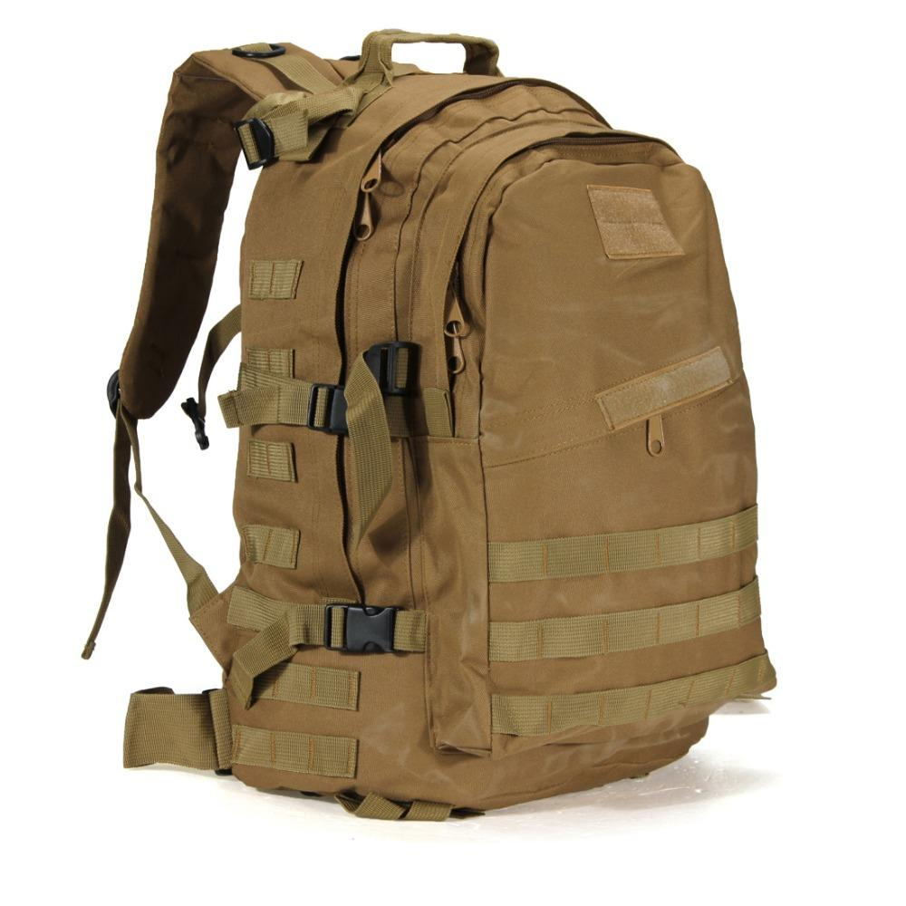 Large Military Backpack (55L). Nylon. - BagTrack