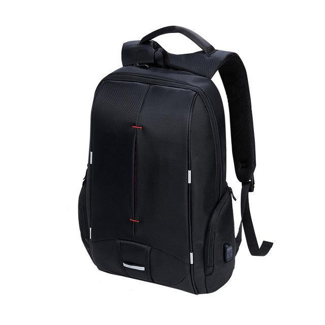 "Waterproof Laptop Backpack with USB Charging (15""). Canvas. - BagTrack"