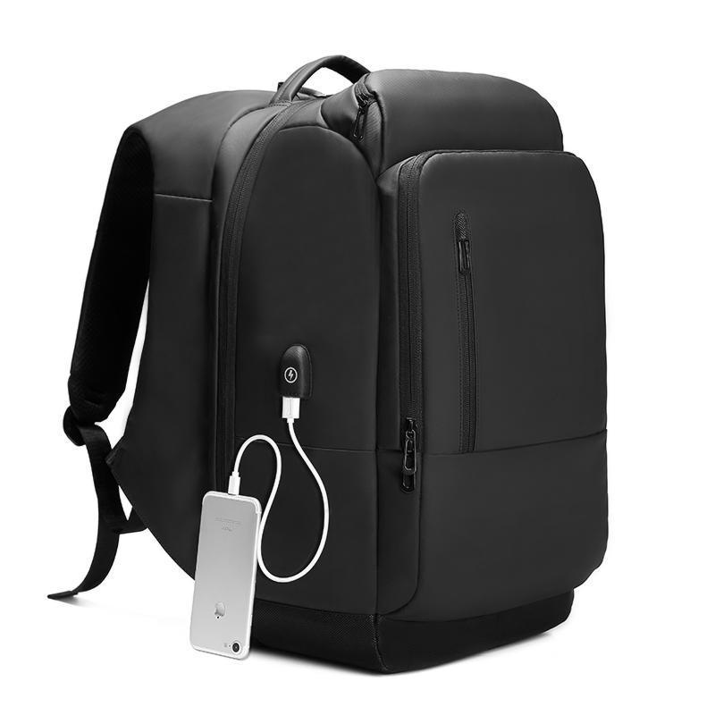 Functional Travel and Laptop Backpack with USB Port. PVC. - BagTrack