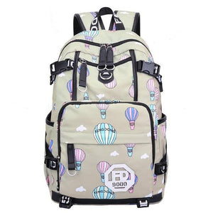 Urban Anti-Theft Backpack with USB Port. Canvas. - BagTrack