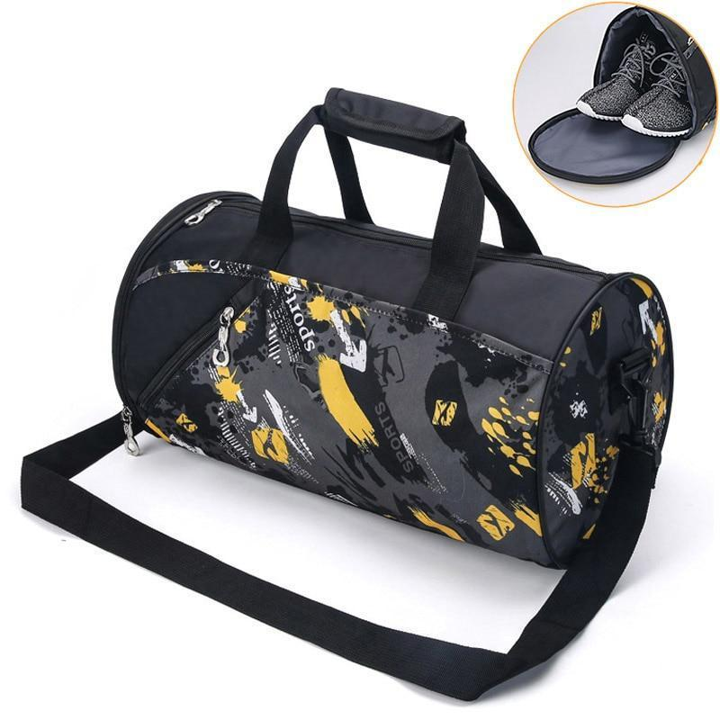 Waterproof Gym Bag with Shoe Storage. Nylon. - BagTrack