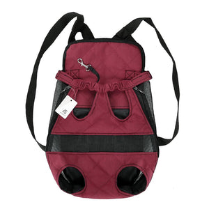 BagTrack Breathable Front Chest Pet Carrier. Canvas.