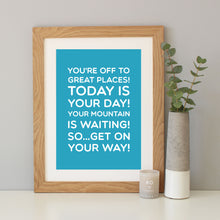 Dr Seuss 'Oh The Places You'll Go' Quote Print