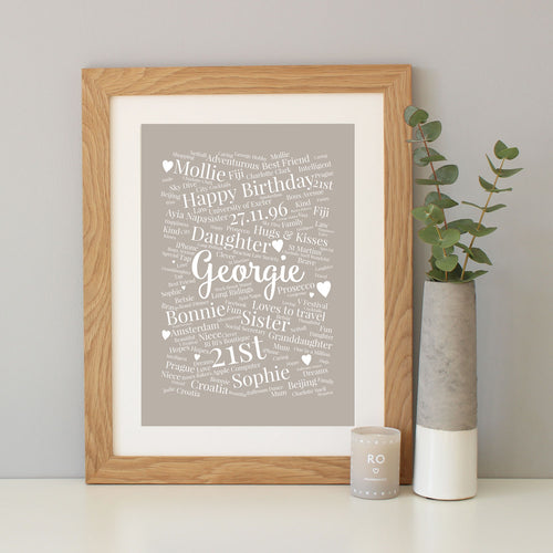 Personalised 21st Birthday Gift