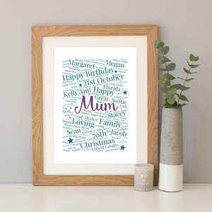 Personalised 70th Birthday Gift