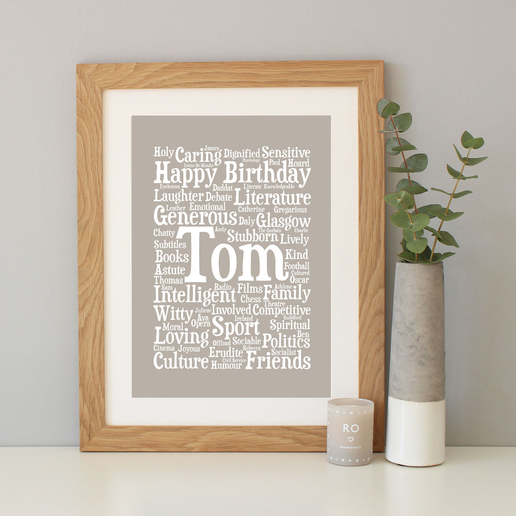 Personalised Birthday Word Art Gift