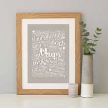 Personalised 60th Birthday Gift
