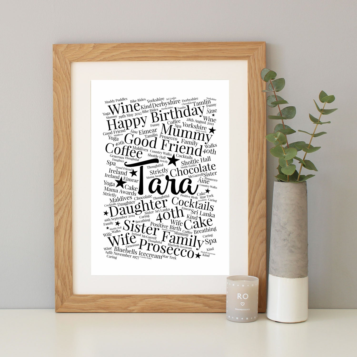 Personalised 40th Birthday Gift