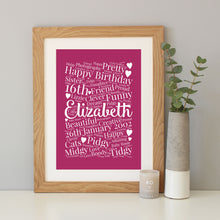 Personalised 16th Birthday Gift