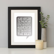 Rapper's Delight Song Lyrics Print