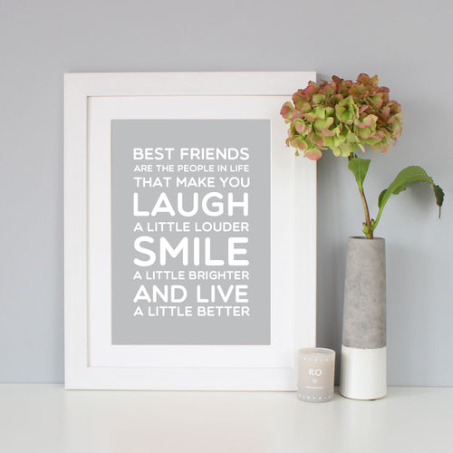 'Best Friend' Gift Quote Print