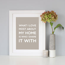 'My Home' New Home Print