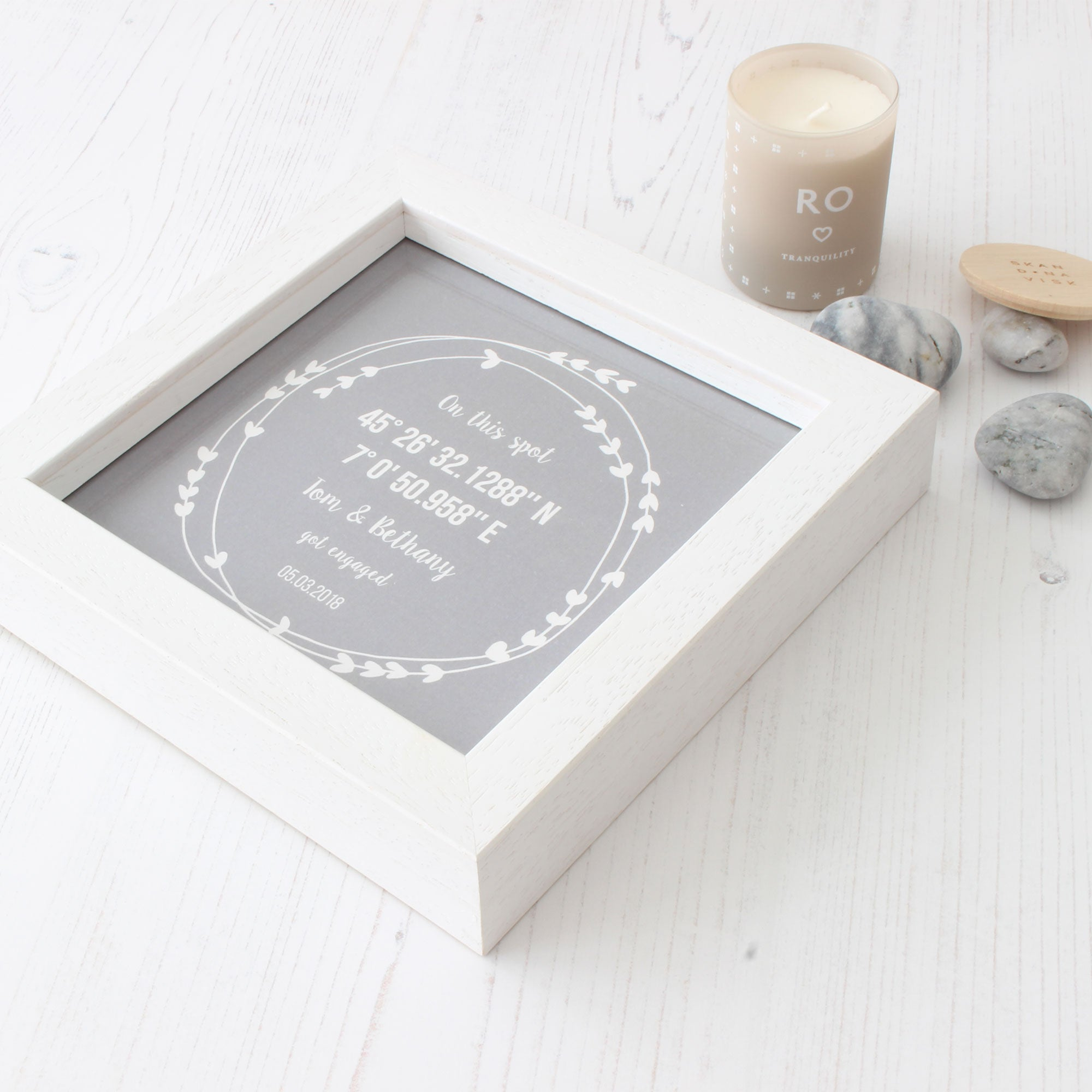 personalised coordinates engagement gift hope love designs