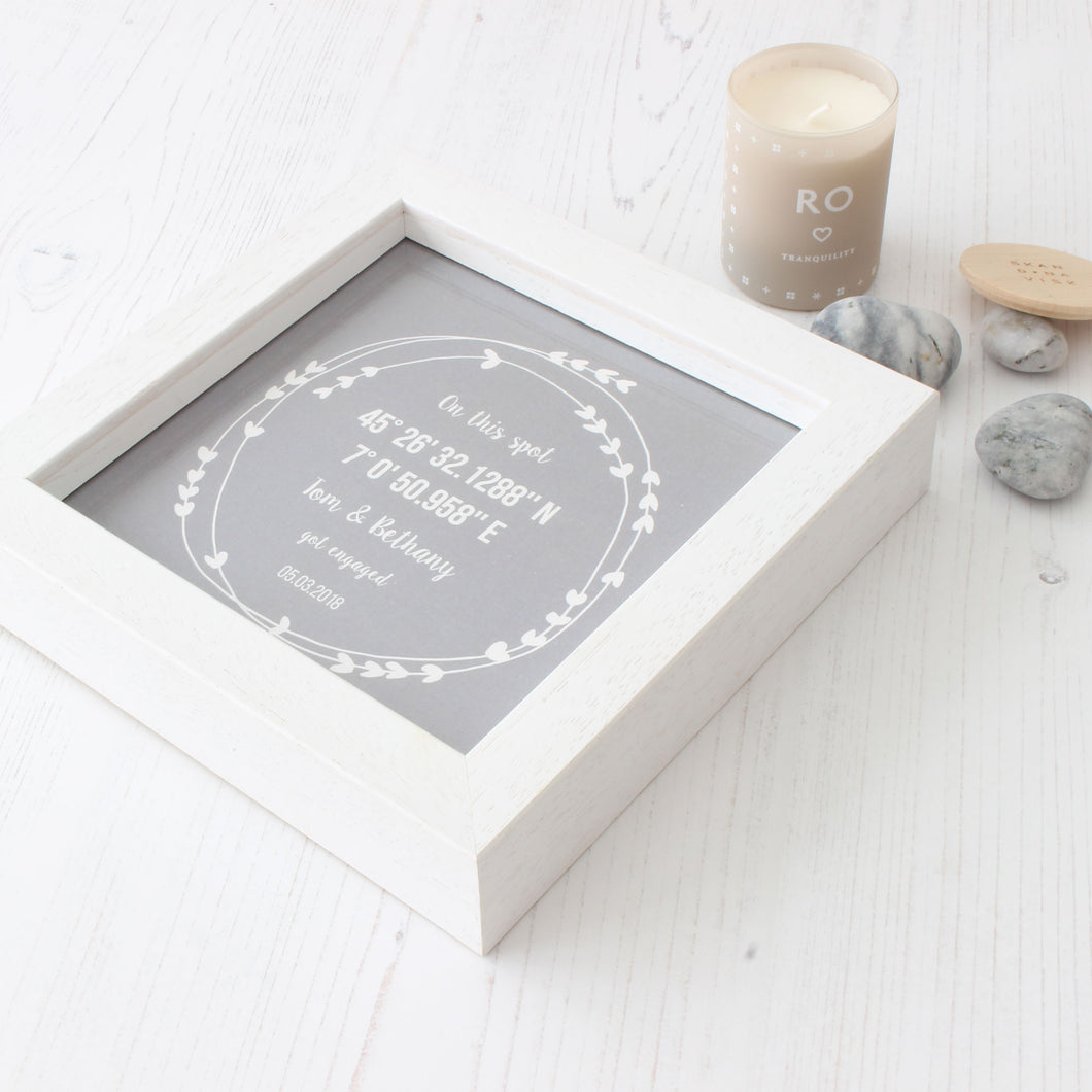 Personalised Coordinates Engagement Gift