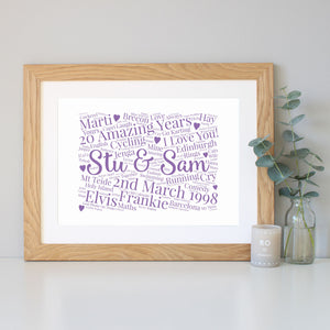 Personalised 20th Anniversary Gift