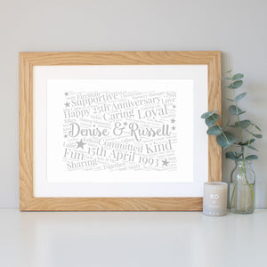 Personalised 25th Anniversary Gift